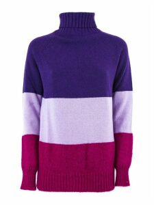 SEMICOUTURE Wool Striped Turtleneck Sweater