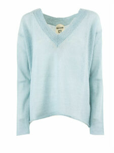 SEMICOUTURE Green Water Wool Blend Jumper
