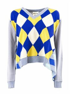 SEMICOUTURE Blue And Yellow Sweater