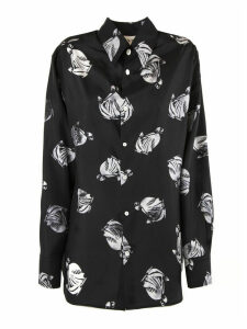 Lanvin Black And White Silk Shirt