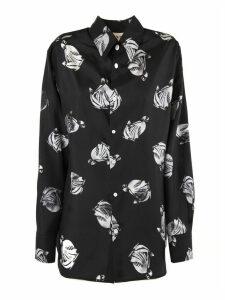 Lanvin Black And White Silk Shirt
