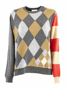 SEMICOUTURE Grey And Beige Wool Sweater