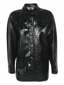 MSGM Crocodile Embossed Shirt