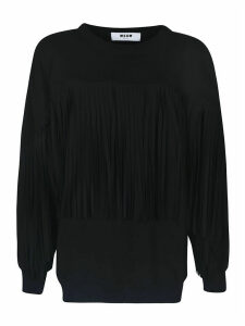 MSGM Fringed Sweatshirt