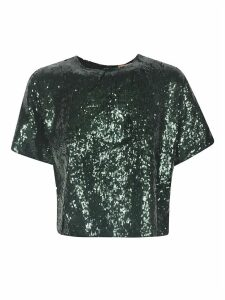 N.21 Sequins Cropped Blouse
