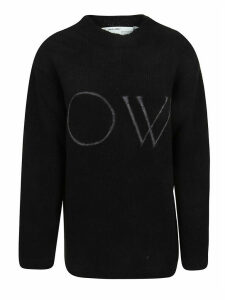 Off-White Ow Knit Oversize Sweater Black White