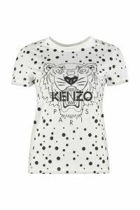 Kenzo Dots Tiger Printed Cotton T-shirt