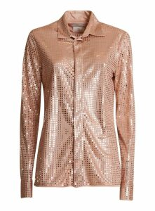 Bottega Veneta Knit Shirt Decorated In Satin