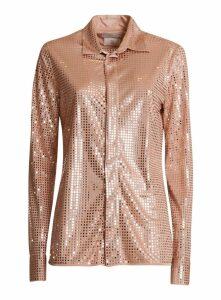 Bottega Veneta Knit Shirt Decorated In Satin