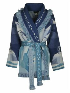 Alanui Iced Landscape Knitted Cardigan