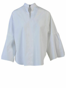 Valentino Oversized Cotton Poplin Blouse