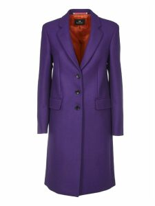 Wool And Cashmere Cioat In Purple Color