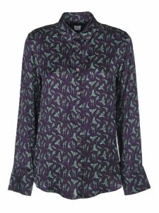 Purple Shirt With Parrots Print