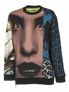 Sweatshirt With Multicolor Print