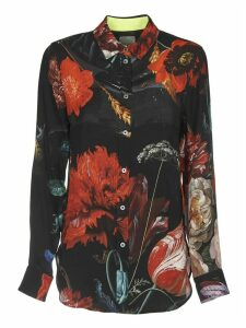 Black Shirt With Multicolor Floral Print