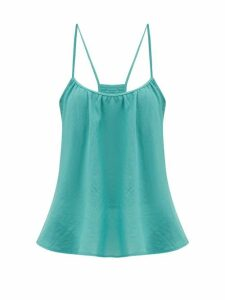Loup Charmant - Scoop-neck Cotton Cami Top - Womens - Blue
