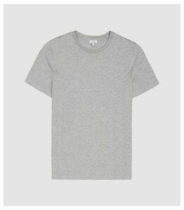 Reiss Brady - Crew Neck T-shirt in Soft Grey, Mens, Size XXL