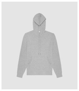 Reiss Hooper - Cashmere Hoodie in Grey, Mens, Size XXL