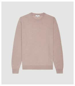 Reiss Chancer - Cashmere Crew Neck Jumper in Heather, Mens, Size XXL