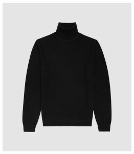 Reiss Ramble - Cashmere Rollneck Jumper in Black, Mens, Size XXL