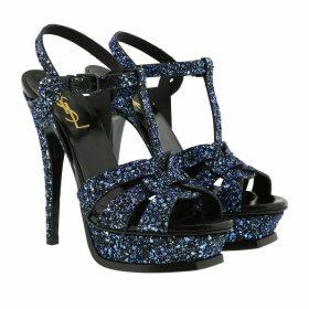 Saint Laurent Sandals - Tribute Platform Sandals Glitter Black - blue - Sandals for ladies