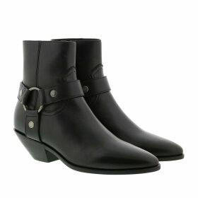 Saint Laurent Boots & Booties - West Harness Booties Leather Black - black - Boots & Booties for ladies