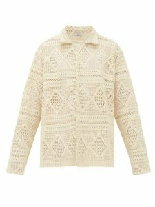 Bode - Havana Cotton Crochet-lace Shirt - Womens - Ivory