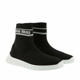 Miu Miu Sneakers - Logo Sock Sneakers Black/White - black - Sneakers for ladies