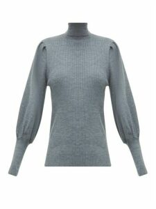 Cefinn - Ribbed Roll-neck Wool Sweater - Womens - Grey