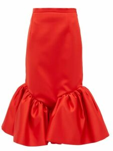 Christopher Kane - Cupcake Ruffled-hem Silk-satin Skirt - Womens - Red