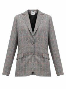 Pallas X Claire Thomson-jonville - Fidji Tailored Single-breasted Wool Jacket - Womens - Grey Multi