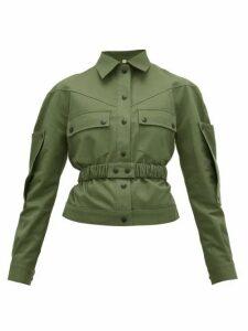 Symonds Pearmain - Belted Cotton-gabardine Jacket - Womens - Khaki