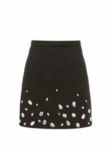Christopher Kane - Crystal-embellished Crépe Mini Skirt - Womens - Black