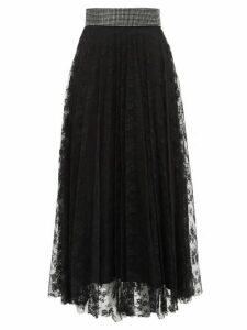 Christopher Kane - Crystal-embellished Floral-lace Skirt - Womens - Black