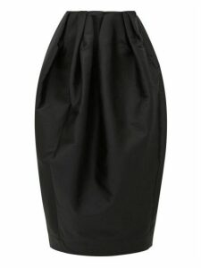 Marques'almeida - High-rise Pleated Taffeta Skirt - Womens - Black