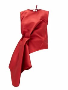Marques'almeida - Waterfall-waist Twill Top - Womens - Red