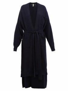 Extreme Cashmere - No.91 Koto Longline Stretch-cashmere Cardigan - Womens - Navy