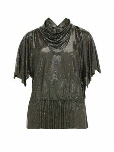 William Vintage - Gianni Versace 1983 Oroton Chainmail Top - Womens - Black