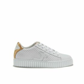 Madisson Perforated Leather Lace-Up Trainers