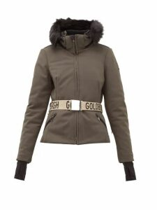 Goldbergh - Hida Faux Fur Hooded Technical Ski Jacket - Womens - Khaki