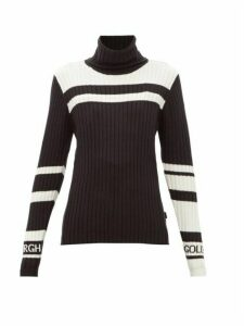 Goldbergh - Katha Striped Roll-neck Sweater - Womens - Black