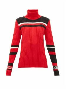 Goldbergh - Katha Striped Roll-neck Sweater - Womens - Red