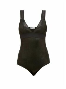 Paco Rabanne - Bodyline Logo Jacquard Metallic Bodysuit - Womens - Black
