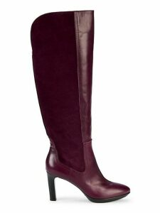 Ruby Leather & Suede Tall Boots