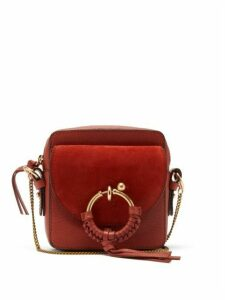 See By Chloé - Joan Mini Leather And Suede Panel Cross-body Bag - Womens - Red