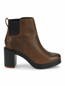 Blake Block-Heel Leather Chelsea Boots