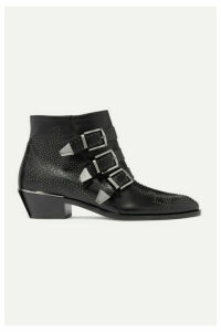 Chloé - Susanna Studded Leather Ankle Boots - Black