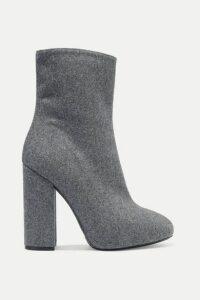Dries Van Noten - Wool And Silk-blend Felt Ankle Boots - Gray