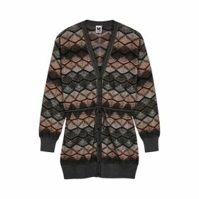 M Missoni Zigzag Metallic-knit Cardigan
