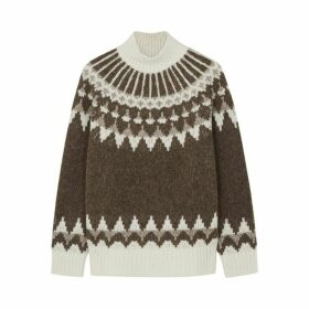 Frame Denim Fair Isle Alpaca-blend Jumper